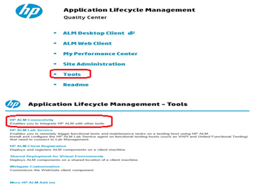 Integrating Certify with HP ALM - SOAIS
