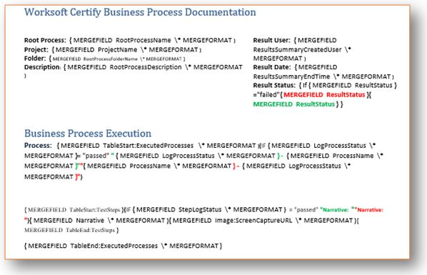 Overview Of Certify Worksoft Business Process Procedure - Process documentation sample
