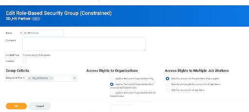 Access Rights to organizations