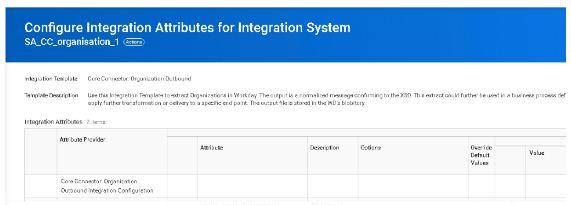 Configure integration attributes for integration system