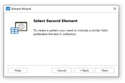 Extract Wizard select second element