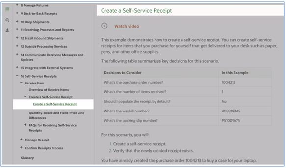create a self service receipt.2