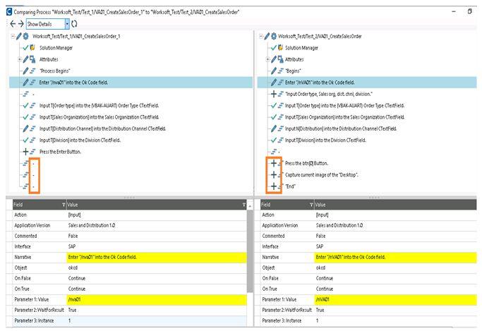 Comparing process tool bar 1