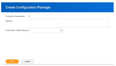 Create Configuration Package