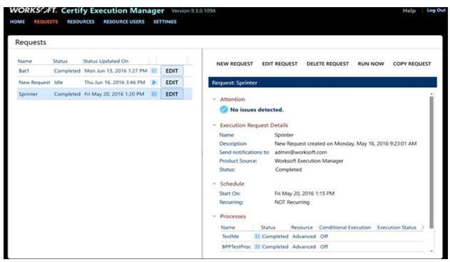 Worksoft Certify Execution Manager 3