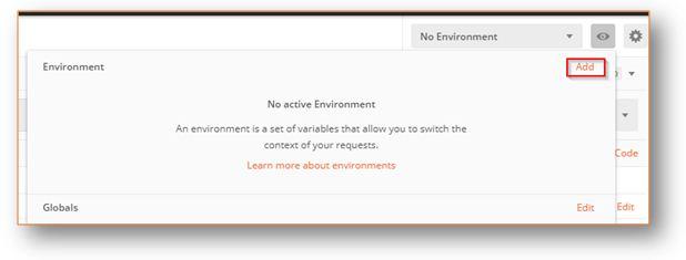 No Environment Add