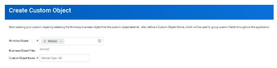 Create custom object 1