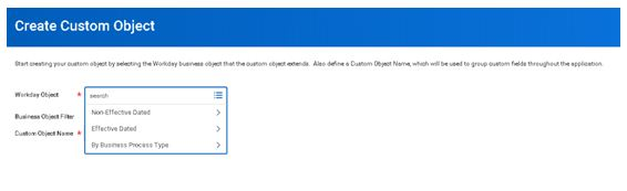 Create custom object