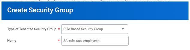 Create security group