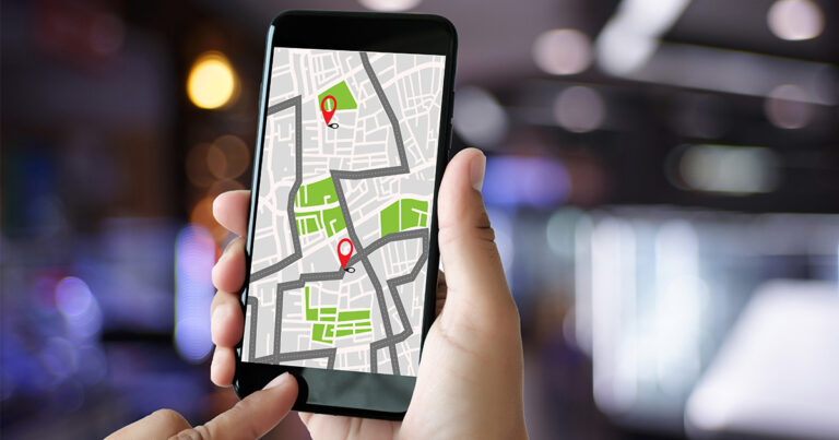 Mobile Check- in and Check- Out Geofence Map
