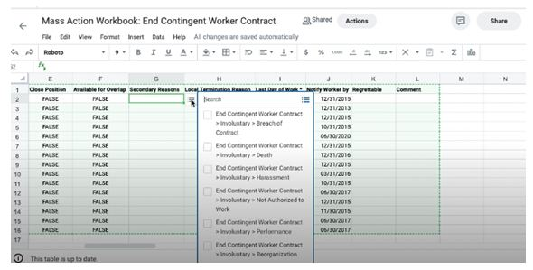 Worker contact