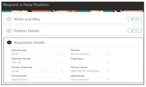 Request a new position