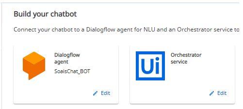 Click dailogflow agent