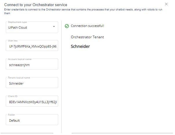 Connect to your orchestrator service