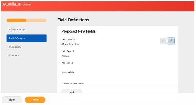Feild definitions