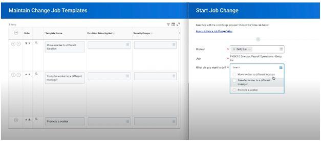 Change job templates