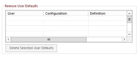 Remove user defaults