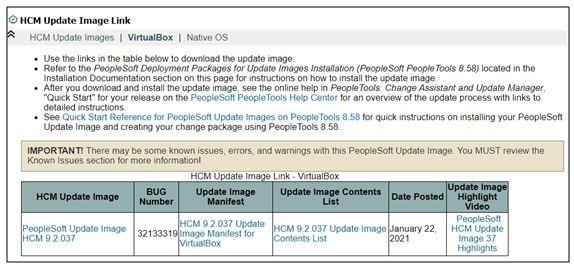 HCM image update link