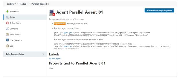Projects tied to parallel agent