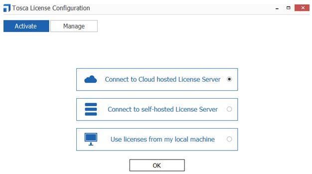 Tosca License configuration