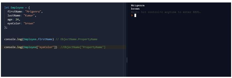 Accessing Object Properties