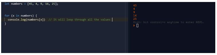 Variable in array