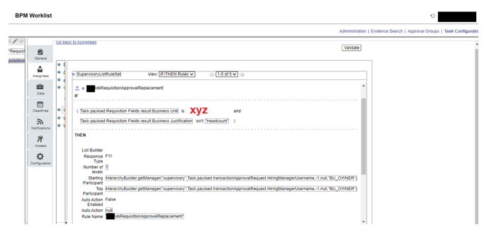 Rule #2 configuration in BPM worklist
