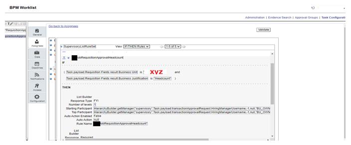 configuration in BPM worklist